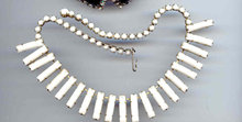 SALE Wild Milk Glass Necklace
