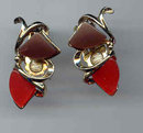 SALE Brown and Red   earrings
