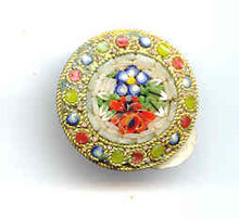 SALE Vintage mosaic Flower Pin