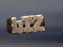 SALE 10kt Gold Name Ring    LIZ