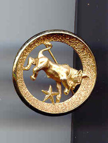 SALE Trifari Zodiac Pin   Taurus
