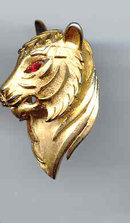 SALE Trifari Tiger Pin Gold tone