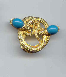 SALE two Headed Snake Pin or Clip