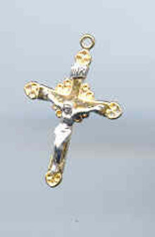 SALE Gold and Silver Plated  Cross