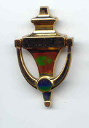 SALE Coro with flying horse. knocker pin