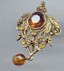 SALE vintage Looking Pin with Glass Stones