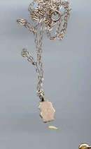 SALE Tiny Sterling Flower chain and pendant
