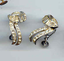 SALE Elegant Vintage Coro Rhinestone Earrings