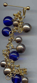 SALE Beautiful India Bracelet with cobalt blue Glass
