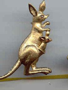 SALE Kangaroo Pin  Moving parts