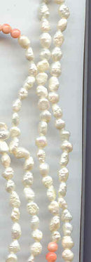 SALE Exceptional Fresh water pearls and coral