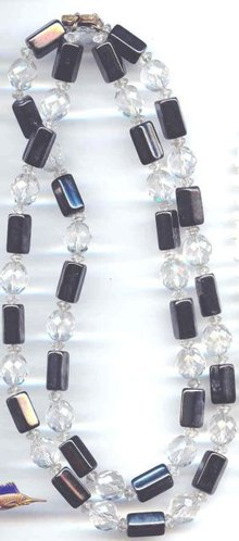 SALE Long and Beautiful Cut Crystal and
