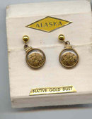 SALE 14kt Gold Earrings From Alaska   Wow
