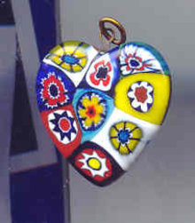 SALE Heart Pendant Glass miliforli