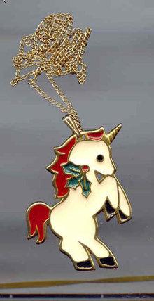 SALE Unicorn pendant by Wallace Co