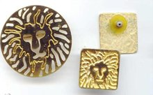 SALE Elegant Leo Lion Pin and Earrings