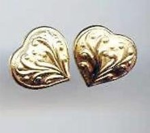 SALE 14kt Gold Heart Earrings  wow