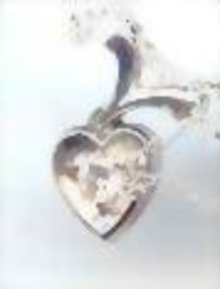 14kt White Gold heart Necklace with diamond