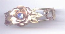 Gold Filled Bracelet with flower / Rhinestone