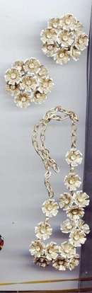 Vintage 50's-70's Necklace and Earrings