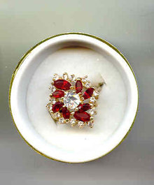 Wow a Red and White Dinner Ring