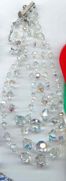 Three strands of Crystal Necklace