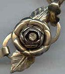 Vintage Roseand Rhinestone Bracelet