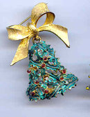 Christmas Bow  With  Hanging Bell  mylu