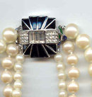 Givenchy Signed Crystal,Faux Pearl and Rhinestone necklace