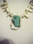 Stunning Sacred White BuffaloTurquoise and Robins Egg Blue Turquoise Necklace.