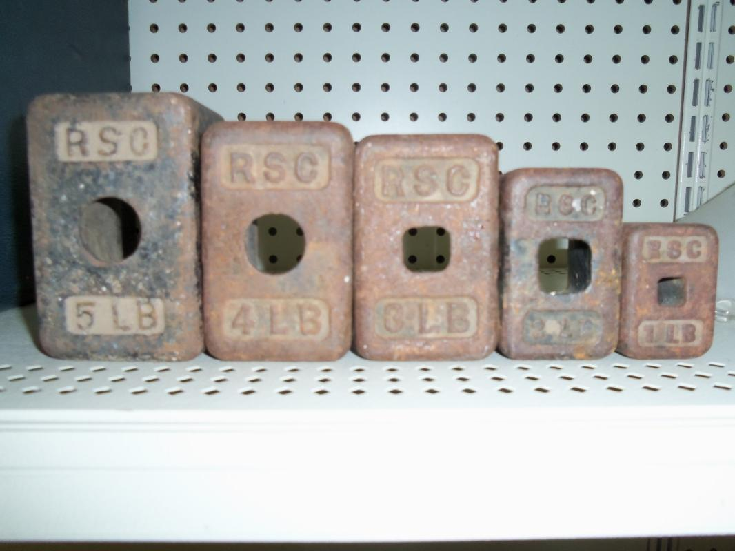 Rare set of RSC steel weights