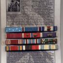 Audie Murphy Ribbon Bar On Descriptive Framable Backing