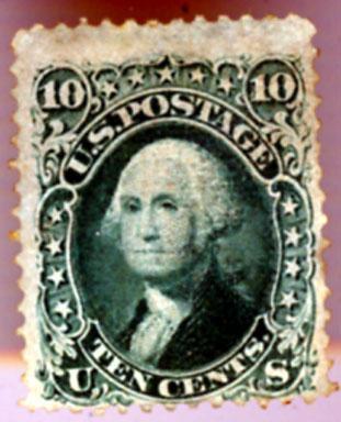 RARE US #96 - 1867 10c Washington MLH FVF