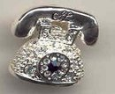Rhinestone Telephone Pin