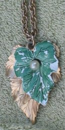 Leaf Necklace Earring Set