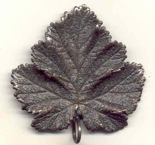 Pewter Sweden Leaf Pendant