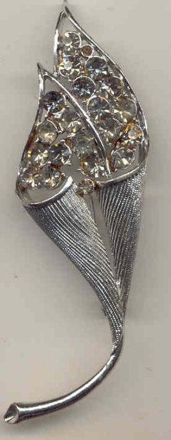 Cornucopia Rhinestone Brooch