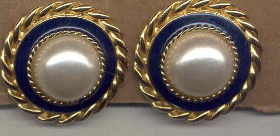 Art Deco Button Earrings