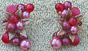 Beaded Half Moon Earrings