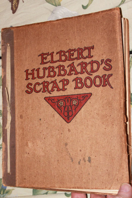 Roycrafters Elbert Hussards Scrapbook 1923 Arts & craft