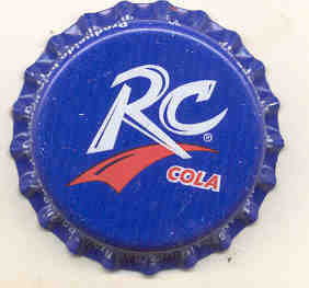 RC COLA Soda Bottle Cap 1980s Royal Blue