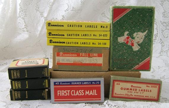 Lot Denninson Vintage Empty Boxes