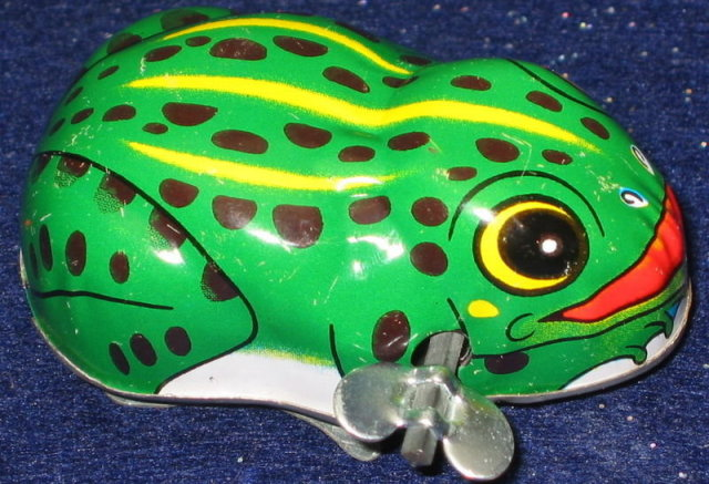 Wind-Up Frog Toy