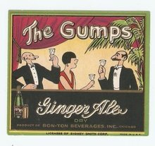 Gumps Gingerale Soda Label 1920s