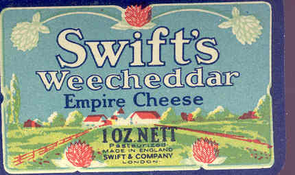 Empire Cheddar Cheese Label