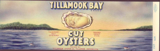 Tillamook Oyster Bay Label