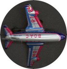 BOAC Tin Airplane Toy