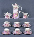 Porcelain Rose Tea Set