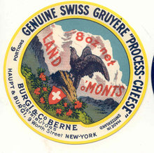 French Gruyere Swiss Cheese Label