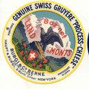 French Gruyere Swiss Cheese Label